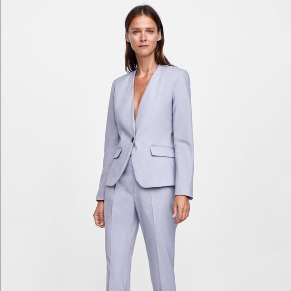 77e1d906 Zara Jackets & Coats | Nwt Baby Blue Slim Fit Blazer | Poshmark
